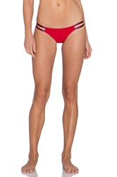 Blue Life American Woman Cheeky Bikini Bottom Red