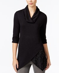 Amy Byer Bcx Juniors' Cowl Neck Top Black