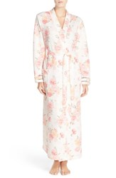 Carole Hochman Women's Floral Quilted Robe Brushstroke Floral