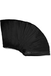 Rick Owens Leather Trimmed Silk Hat