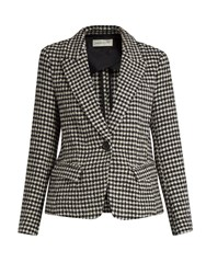 Etoile Isabel Marant Cowens Layden Hound's Tooth Check Jacket Black White