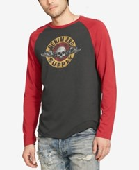 Denim And Supply Ralph Lauren Men's Jersey Long Sleeve Baseball T Shirt Black