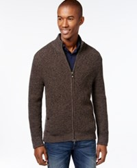 Vince Camuto Full Zip Textured Sweater