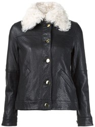 Derek Lam 10 Crosby Collar Detail Jacket Black