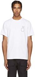 Rag And Bone White Peace Embroidery T Shirt