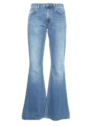 Acne Studios Mello Flared Leg Cotton Denim Jeans