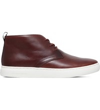 Paul Smith Fong Leather Chukka Boots Mid Brown