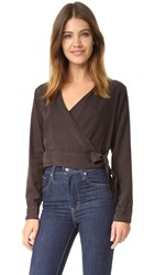 Bella Dahl Wrap Shirt Dark Roast