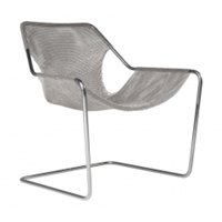 Paulistano Stainless Steel Frame Chair With Mesh Seat