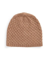 Lord And Taylor Cashmere Knit Beanie Mocha