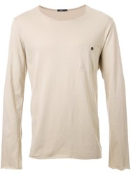 Bassike Button Pocket T Shirt Nude And Neutrals