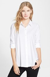 Women's Eileen Fisher Organic Cotton Long Classic Collar Shirt