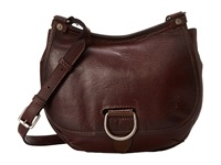Frye Amy Crossbody Burgundy Oiled Vintage Leather Cross Body Handbags Brown