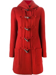 Lanvin Duffle Coat Red