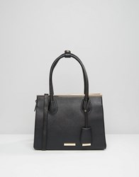 Dune Structured Tote Bag Black