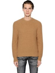 Calvin Klein Camel Wool Rib Knit Sweater