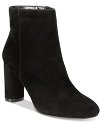 Inc International Concepts Women's Taytee Block Heel Booties Only At Macy's Women's Shoes Black Suede