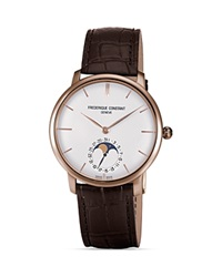 Frederique Constant Slim Line Moonphase Rose Gold Watch 42Mm