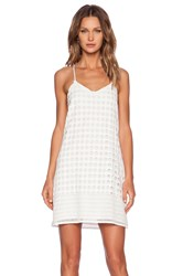 1. State Circle Lace Shift Dress White