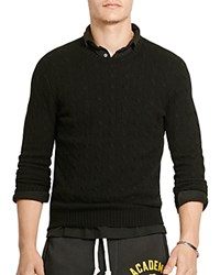 Polo Ralph Lauren Cable Knit Cashmere Sweater Polo Black