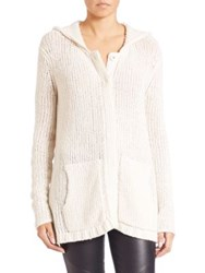Atm Anthony Thomas Melillo Oversized Hooded Sweater Cream