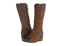 Sorel Cate The Great Wedge Dark Brown Women's Dress Boots