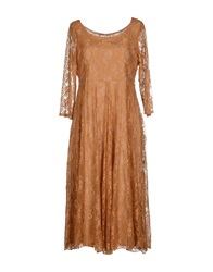 Lou Lou London Knee Length Dresses Ocher