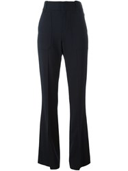 Chloe Fitted Flared Trousers Blue