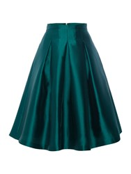 Eliza J Emerald Midi Skirt Green