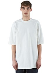 Rick Owens Long Crew Neck Sweatshirt White