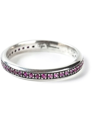 Ugo Cacciatori Crystal Embellished Ring Pink And Purple