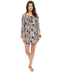 Tommy Bahama Paisley Tunic Cover Up Mare Navy Women's Swimwear