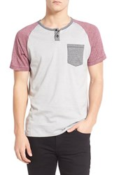Men's Imperial Motion 'Lefty' Short Sleeve Colorblock Henley Grey