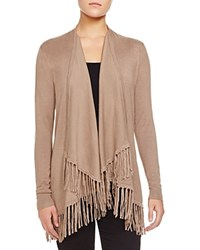 Chelsea And Theodore Open Long Sleeve Fringe Cardigan Compare At 78