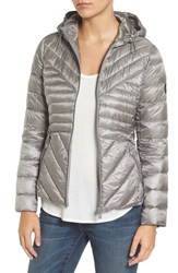 Bernardo Women's Down And Primaloft Fill Packable Quilted Jacket