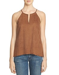 1.State Faux Suede Barbell Tank Toffee Brown
