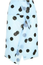 Marc By Marc Jacobs Misty Polka Dot Pu Skirt Blue
