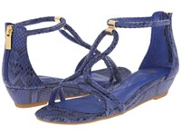 Isola Elin Electric Blue Snake Print Women's Wedge Shoes