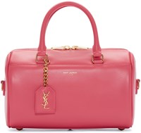 Saint Laurent Pink Leather Baby Duffle Bag