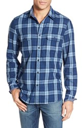 Men's Wallin And Bros. 'Duofold Workshirt' Trim Fit Plaid Chambray Sport Shirt
