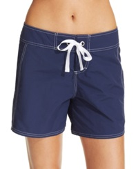 Tommy Bahama Tie Front Board Shorts Women's Swimsuit Navy