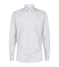 Richard James Flecked Herringbone Shirt Male Light Grey