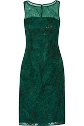 Mikael Aghal Sequin Embellished Lace Dress