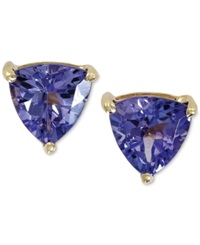 Effy Collection Violette By Effy Tanzanite Stud Earrings In 14K Gold 1 Ct. T.W. Purple