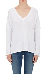 Skin Women's Cotton Linen Sweater White