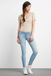 Forever 21 Distressed Low Rise Jeans