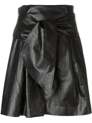 Msgm Faux Leather Skirt Black