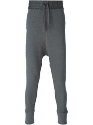 Thom Krom Drop Crotch Slim Fit Track Pants Grey