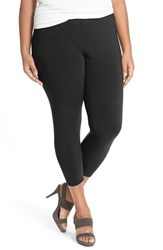 Plus Size Women's Eileen Fisher Lightweight Organic Cotton Crop Leggings Black