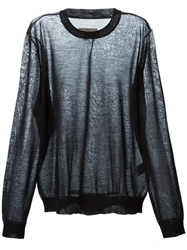 Local Firm 'Pod' Sheer Sweater Grey